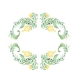 Border with yellow flowers in vintage style vector image vector image