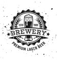 brewery round emblem label badge or logo vector image vector image