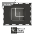 BW Count the squares vector image vector image
