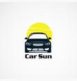 car sun logo designs simple concept icon element vector image vector image