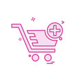 cart icon design vector image vector image