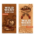 Cawboy Wild West Vertical Banners vector image vector image