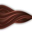 chocolate wavy swirl isolated on white background vector image vector image