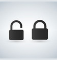 closed and open lock icons vector image vector image