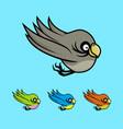 colored cartoon birds vector image