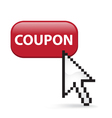 Coupon Button Click vector image