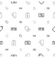 coupon icons pattern seamless white background vector image vector image