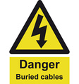 Danger Buried Cable Safety sign vector image vector image