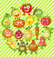 Different kind of fruits and vegetables vector image vector image