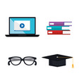electronic learning technology icons vector image vector image