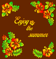Enjoy the summer - hibiscus decoration vector image