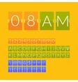 Flat countdown timer vector image vector image