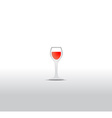 Glass of wine isolated on a white background vector image vector image
