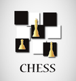 gold chess vector image