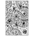 gremlins engraved fantasy vector image vector image