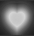 Grey and white paper layers heart shape vector image