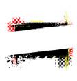 grunge color tire diagonal rectange vector image vector image