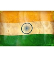 grunge flag - india vector image vector image