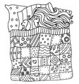 High quality original pattern of girl in a bed vector image vector image