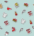 laundry concept icons pattern vector image