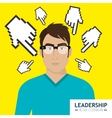 Leadership business entrepreneur vector image