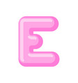 letter e candy font caramel alphabet lollipop vector image vector image