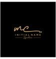 letter mc signature logo template vector image vector image