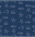 marine life animal pattern seamless color vector image