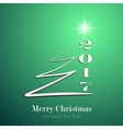Marry Christmas and Happy New Year 2017 background vector image