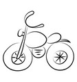 motorcycle drawing on white background vector image vector image