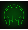 Music heartbeat vector image