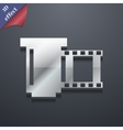 negative films icon symbol 3D style Trendy modern vector image