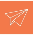 Paper Plane Thin Line Icon Paper Origami Airplane vector image vector image