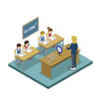 physics lesson at school isometric icon vector image