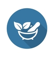 Phytotherapy Icon Flat Design vector image vector image