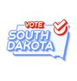 presidential vote in south dakota usa 2020 state vector image vector image
