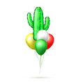 realistic inflatable cactus air balloon vector image vector image