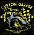 retro motorcycle race vector image vector image