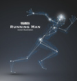 Running Man dots and lines connected together a vector image vector image