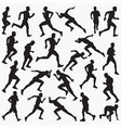 running woman silhouettes vector image