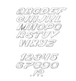 Script font cursive black on white background vector image vector image