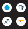 set of astrology icons flat style symbols with vector image vector image