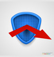 shield reflect arrow protection conceprt vector image