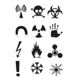 Signs of chemical effects on human radiation vector image