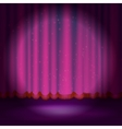 Spotlight on magenta stage curtain vector image vector image