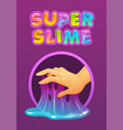 sticky glue on fingers funny colorful vector image vector image