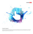 touching hand simple icon - watercolor background vector image