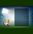 transparent screen on soccer field stadium vector image vector image