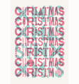 typographic grunge vintage style christmas card vector image vector image