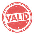 valid grunge rubber stamp vector image